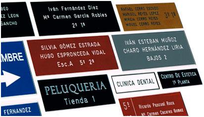 grabado de placas